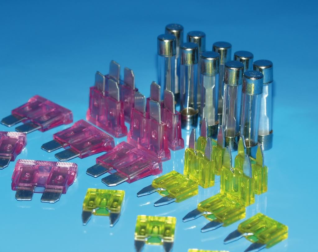 FUSE 20AMP 25MM GLASS 10 PIECES Bike It