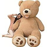 AMIRA TOYS ぬいぐるみ 特大 くま/テディベア 可愛い熊 動物 大きい くまぬいぐるみ/熊縫い包み/クマ抱き枕/お祝い/ふわふわぬいぐるみ(200cmブラウン)