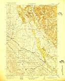 Wyoming Maps | 1918 Moorcroft, WY USGS Historical Topographic Map | 18in x 24in