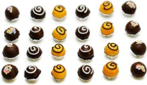 15 Psc Mix Chocolate Bakery Colorful Cupcake Dollhouse Miniatures Food Kitchen by Cool Price