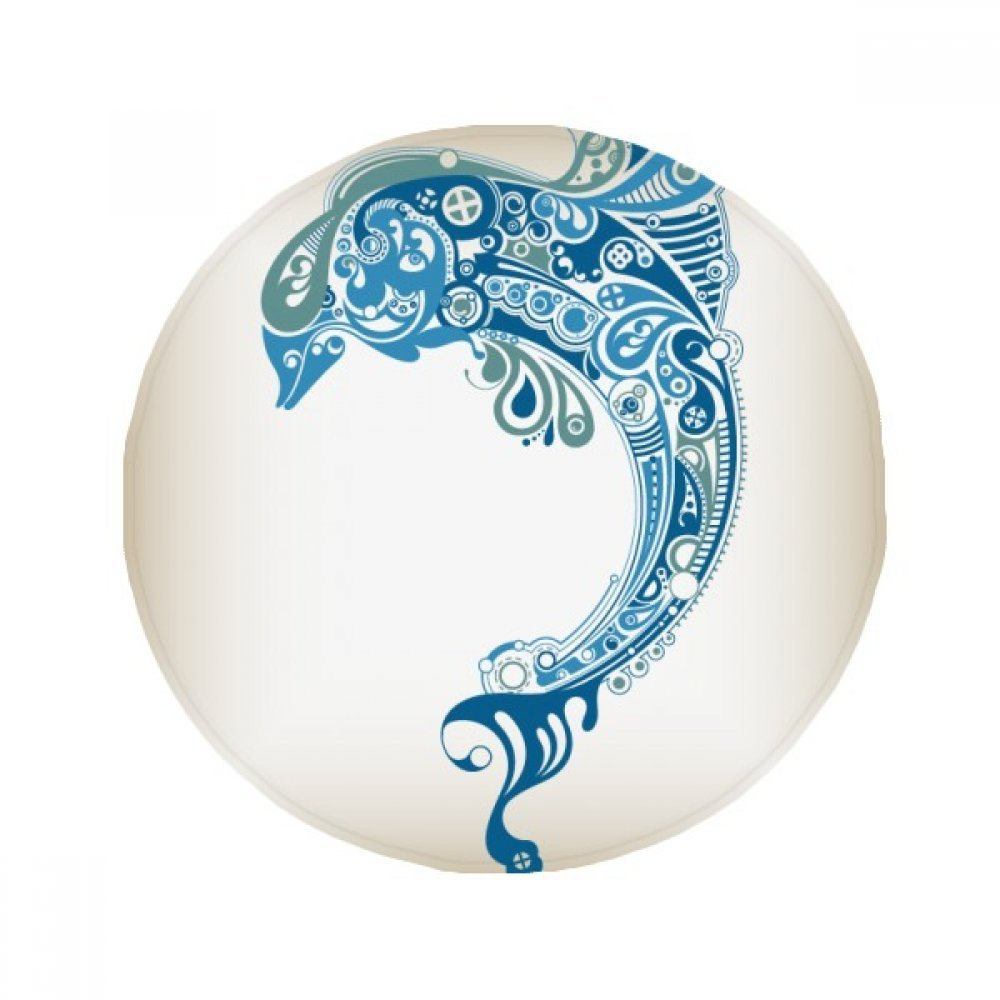 60X60cm DIYthinker bluee Ocean Dolphin Illustrate Anti-Slip Floor Pet Mat Round Bathroom Living Room Kitchen Door 60 50Cm Gift