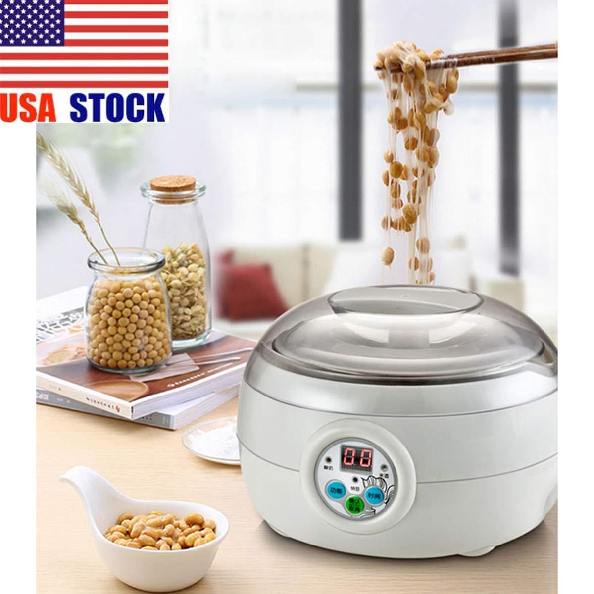 1.5L 220V 15W White Electric Automatic Yoghurt Maker Rice Wine Cuisine Container Yogurt Maker Kitchen Appliance 14x21cm