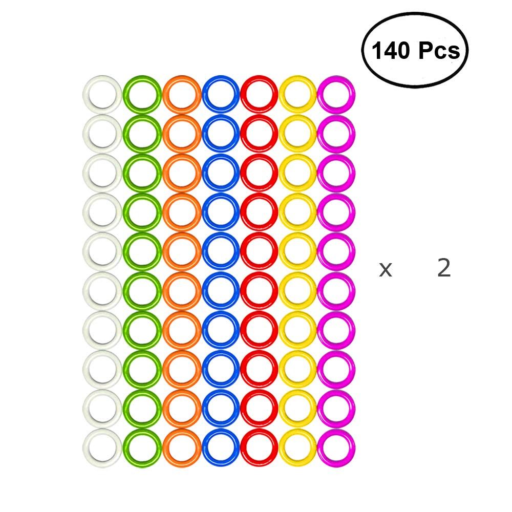 Hard O-Rings /Ø7mm, 7 Colors 140pcs from /Ø5mm to /Ø11mm Hard Stitch Ring Markers for Knitting//Crochet//etc 7 Colors 140pcs or 70pcs