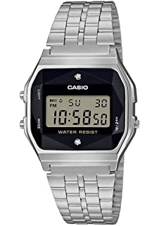cc81c5d3f Casio Unisex Adult Digital Quartz Watch with Stainless Steel Strap  A158WEAD-1EF