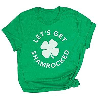 999fa1ef Spunky Pineapple Let's Get Shamrocked Funny St Patricks Day Premium  Drinking T-Shirt Green