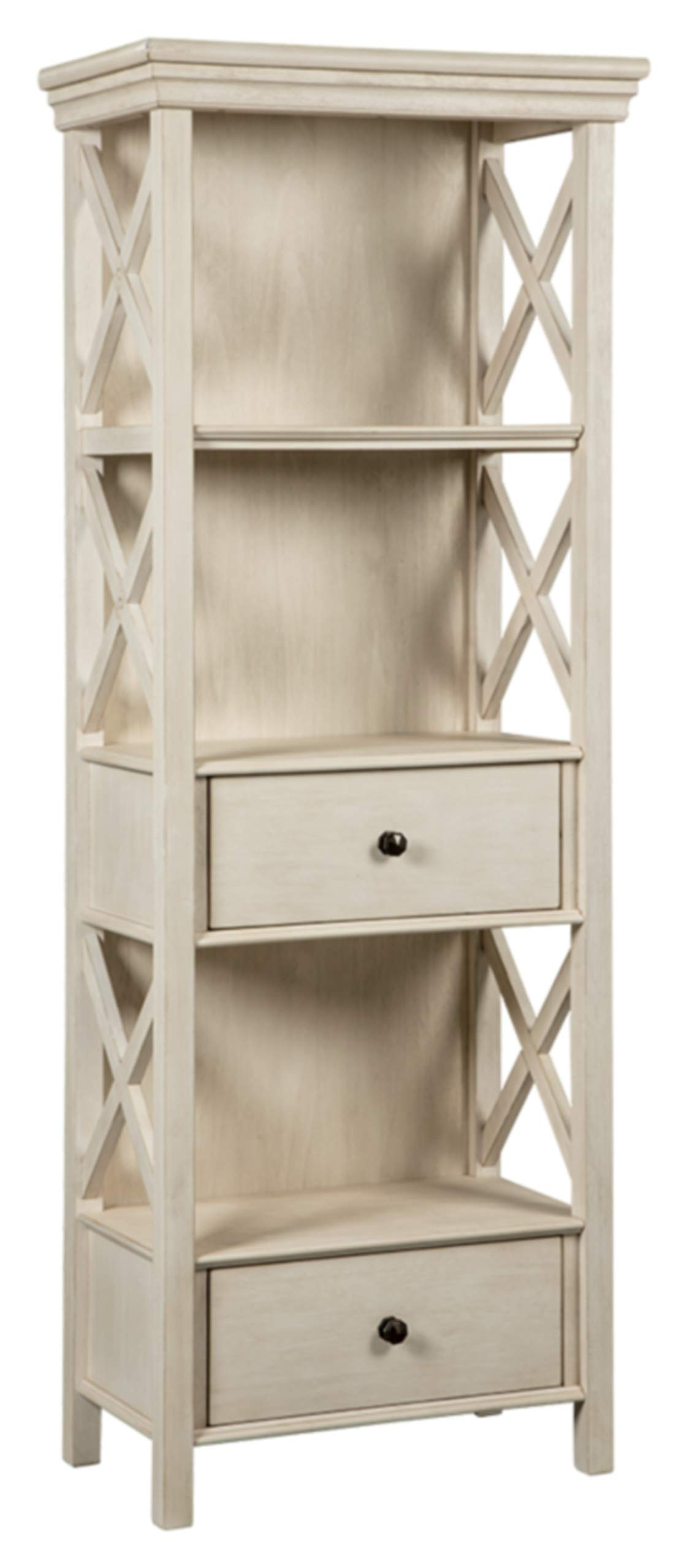 Ashley Furniture Signature Design - Bolanburg Display Cabinet - 2 Drawers - 3 Shelves - Antique White by Signature Design by Ashley