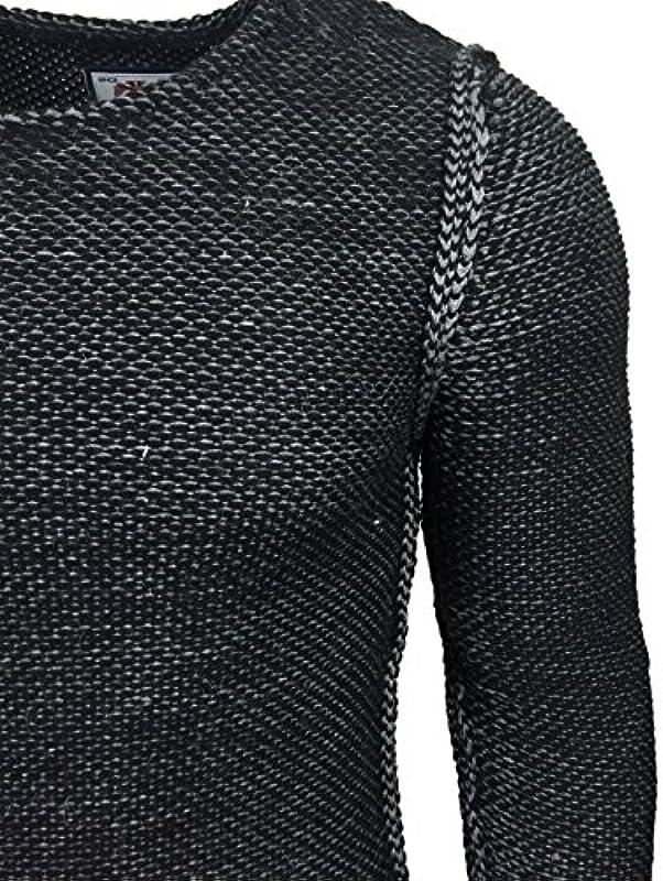 Kickdown sweter z dzianiny męski zima gruba dzianina sweter bluza KD-16088: Odzież