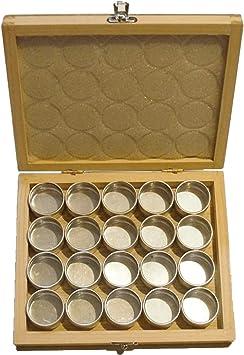 20 cajas para clasificar fornituras en estuche de madera S1 Deluxe para relojeros: Amazon.es: Bricolaje y herramientas