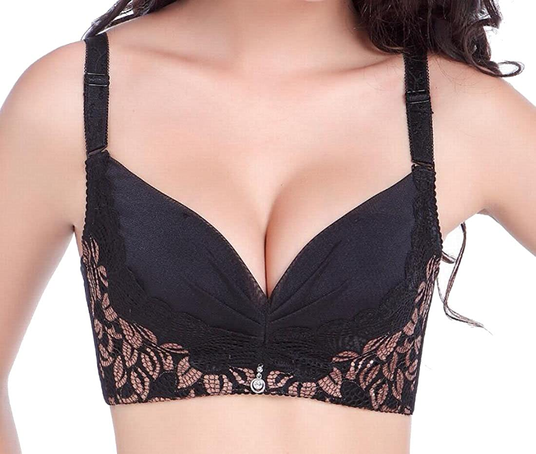 ab5c48658d WSPLYSPJY Women s Soft Seamless Push up Gather Bra Lingerie at Amazon  Women s Clothing store