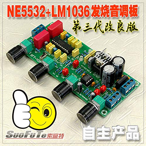 Jillier LM1036 + NE5532 Stereo Preamp Preamplifier Tone Board Audio Amplifier Board
