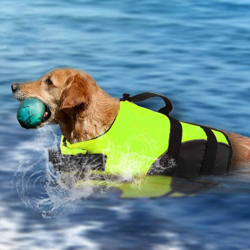 AOFITEE Dog Life Jacket Reflective Life Vest Safety Pet Swimming Vest Durable Life Preserver with Rescue Handle for Small Medium and Large Dogs
