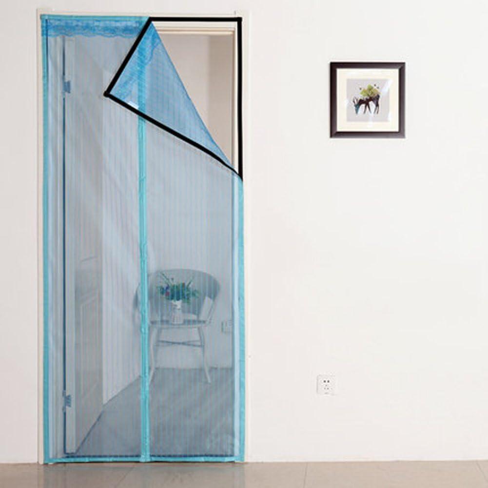 J&DSSSU Mosquitera Puerta magnética Cubierta con Cortina de Malla Resistente Volar Cortina corredera Puertas de Vidrio-Azul-A 150x250cm(59x98inch): Amazon.es: Hogar