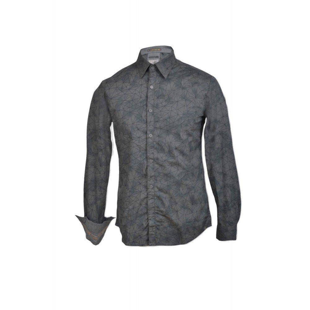 Amazon.com: No Excess-CAMISA NO EXCESS MANGA LARGA ESTAMPADA-Grey: Clothing