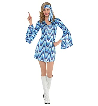 90a6ad5b7d17 Adult Disco Lady Costume Dress size SMALL: Amazon.co.uk: Toys & Games