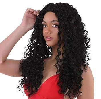 LUCAS - Peluca de encaje frontal 100% de pelo virgen indio ondulado con pelo natural
