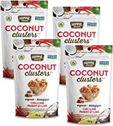 Hippie Snacks Organic Coconut Clusters – Chili Lime, 4 x 56 gram pack