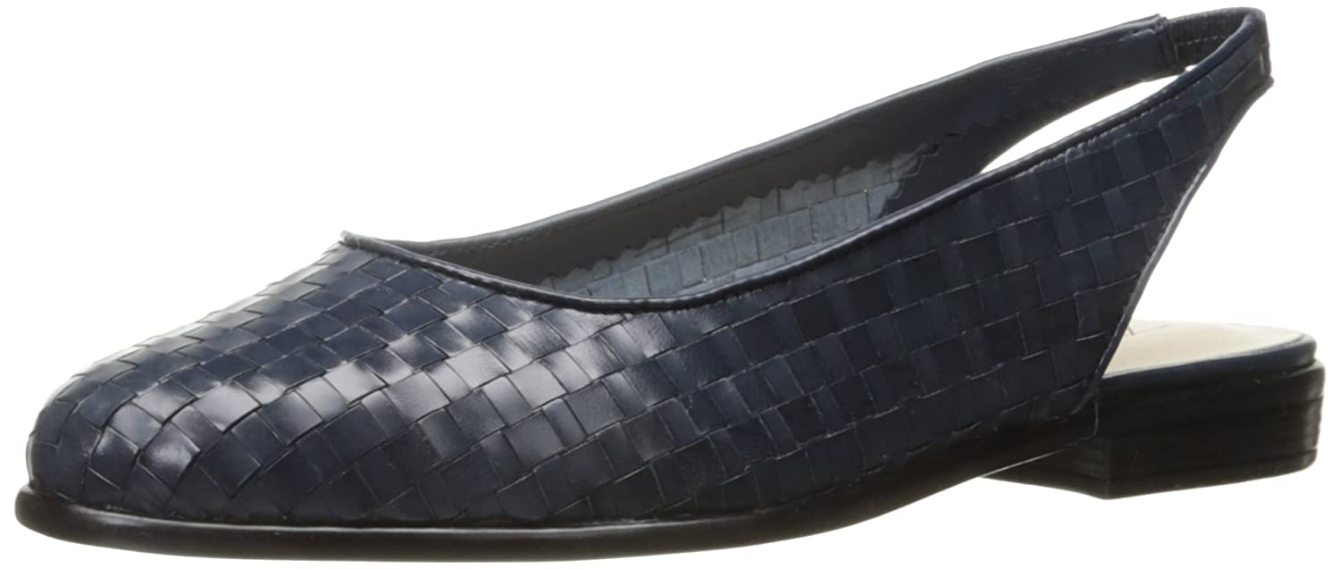 Trotters Women's Lucy Ballet Flat B01HMY8RYC 8 B(M) US|Navy