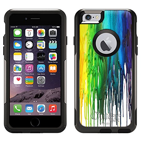 Skin Decal for Otterbox Commuter Apple iPhone 6 Case - Melting Wax