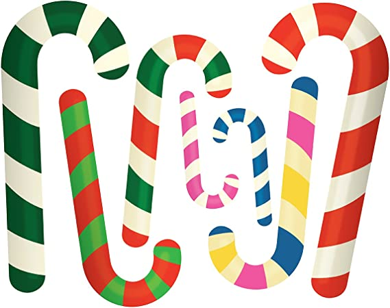 Wallmagination Christmas Candy Canes Wall Art Peel Stick Decals Amazon Ca Home Kitchen