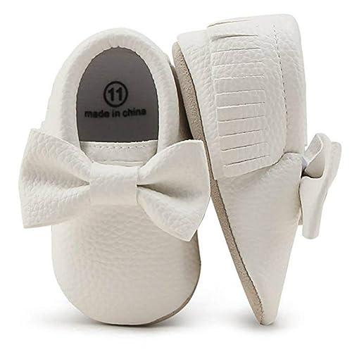 d1853e522 OOSAKU Zapatos para niñas niño Zapatos recién Nacidos para Cuna con Suela  Blanda PU Borla de Cuero  Amazon.es  Zapatos y complementos