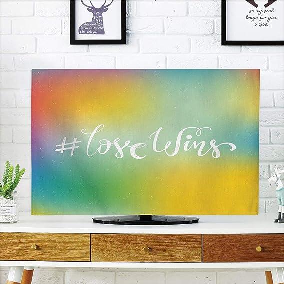VANKINE - Funda para televisor LCD, decoración de Orgullo, LGBT, LGBT, con diseño de Unicornio y Unicornio: Amazon.es: Electrónica