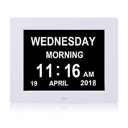 YCOO Reloj Digital Grande con Calendario Digital para la pérdida de Memoria, Calendario Digital Extra
