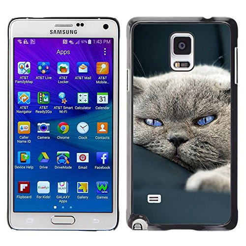 Plastic Shell Protective Case Cover || Samsung Galaxy Note 4 || Cute Sleepy Cat House British Shorthair @XPTECH
