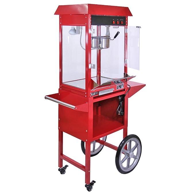 KuKoo - Máquina para Hacer Palomitas de Maíz y Máquina para Hacer Algodón de Azucar con Carritos: Amazon.es: Hogar
