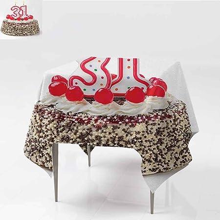 DILITECK Elegance - Mantel de diseño para 31 cumpleaños, diseño de ...