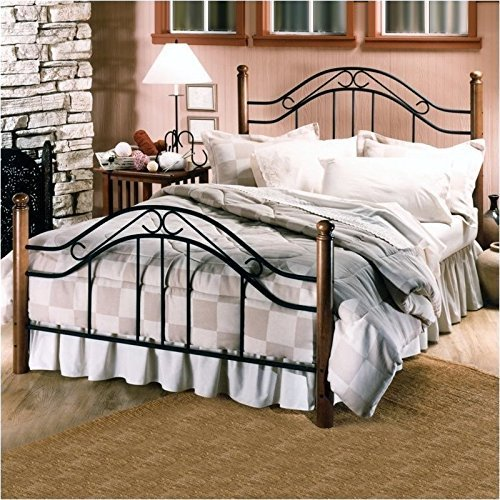 (Hillsdale Furniture 164BQR Winsloh Bed Set with Rails, Queen, Black)