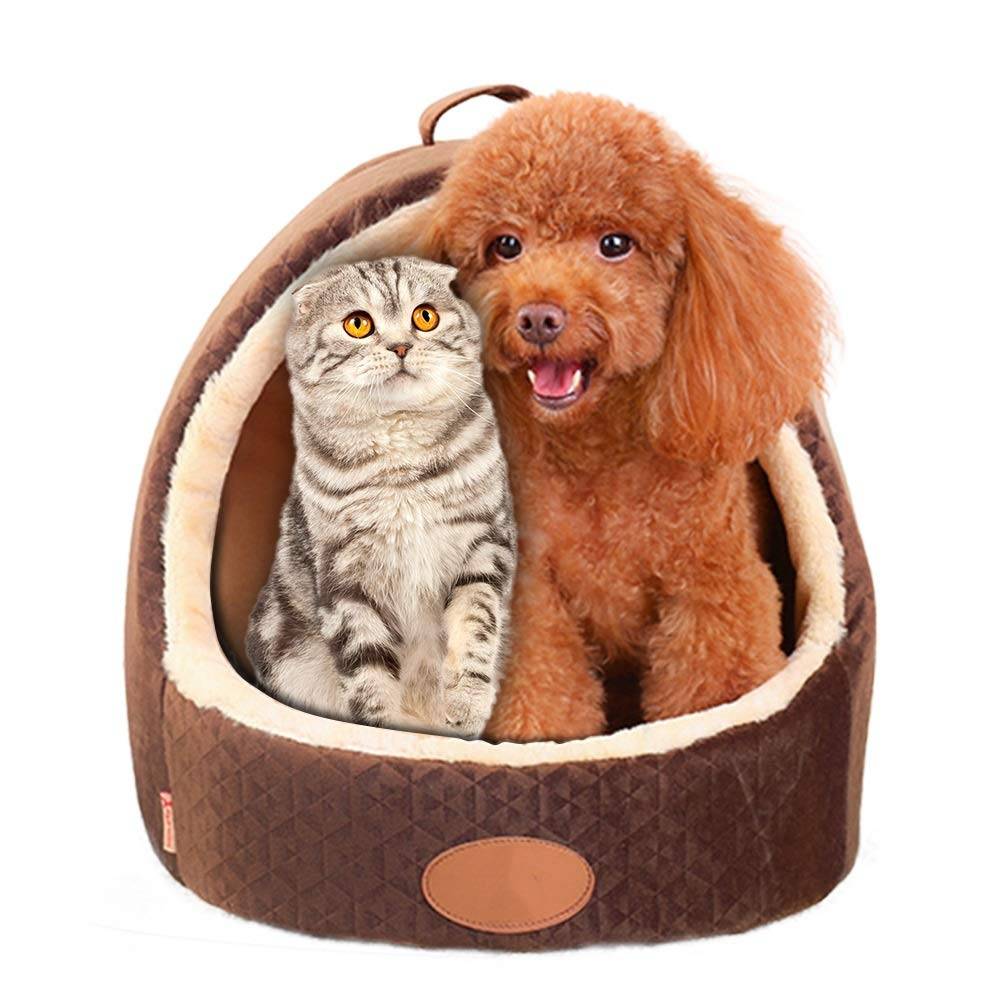 M Pet Dog Cat Bed House Warm Mat Puppy Kennel Cat Litter House Teddy Bomei Small Puppies Four Seasons Pet House Pet Dog Cat Bed House Warm Mat (Size   M)