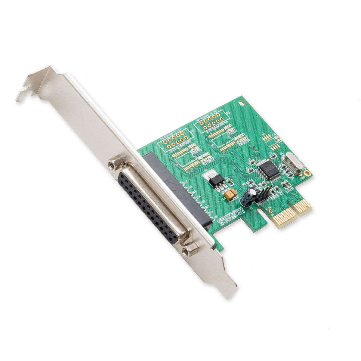 Syba 1 Port DB25 Parallel PCIe x1 Controller Card Components Other SI-PEX10010 Green