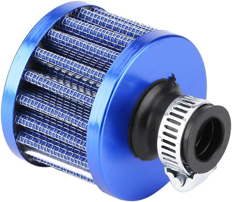 13mm Car Cold Air Intake Filter Kit Crankcase Vent Cover Breather Universal for Vehicles with 13mm Air Intakes Blue