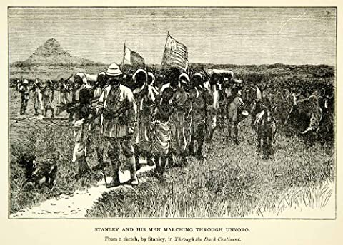 1912 Wood Engraving Henry Morton Stanley Bunyoro Expedition Africa Uganda Art - Original In-Text Wood (Africa Expedition)