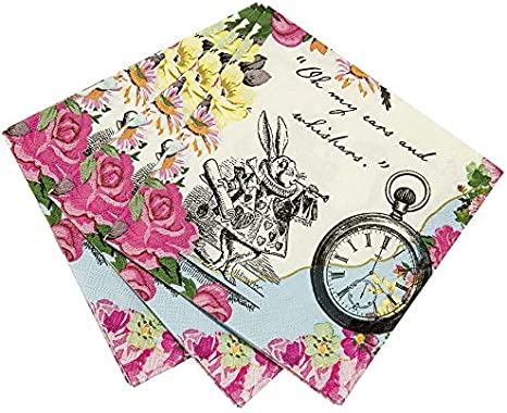 4 X Vintage Papier Serviettes de Table//Fête//Pour Découpage//CRAFT//Blanc Noir