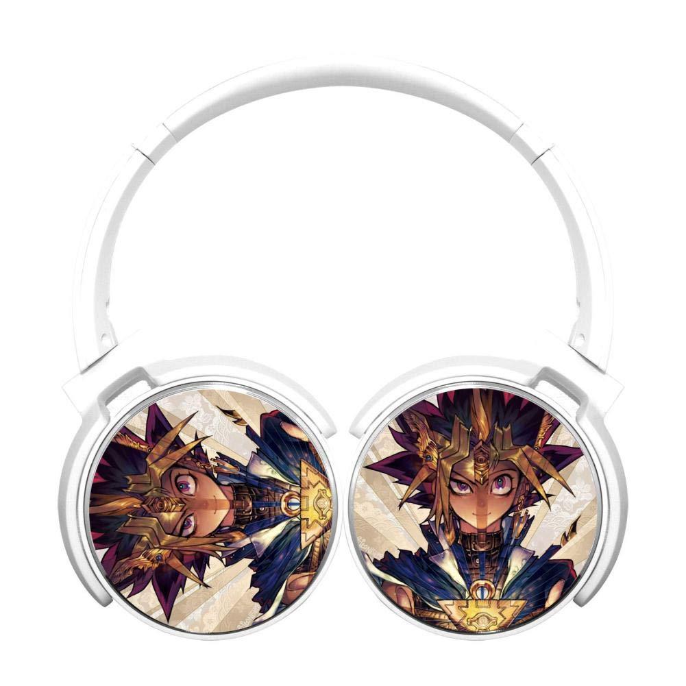 Y-u GI Oh Wireless Headphones Bluetooth Over Ear Headphones Noise-canceling Earphone-White