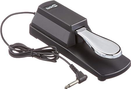 RockJam Pedal de sostenido profesional para pianos digitales y teclados electrónicos con interruptor de polaridad
