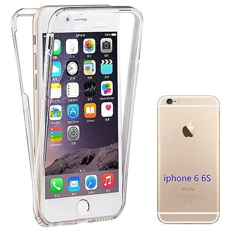 JTMALL Funda Carcasas iPhone 6/6S, 360° Delantera + Trasera Transparente Silicona Gel Integral Ultra Delgado TPU Anti-Choque Anti-Arañazos Protectora ...