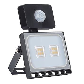 10W 800LM Foco LED con Sensor Movimiento, Super Brillante ...
