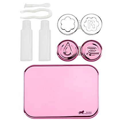 Eyewear Accessories Strict Easy Carry Mini Mirror Contact Lens Travel Kit Case Storage Holder Container Box