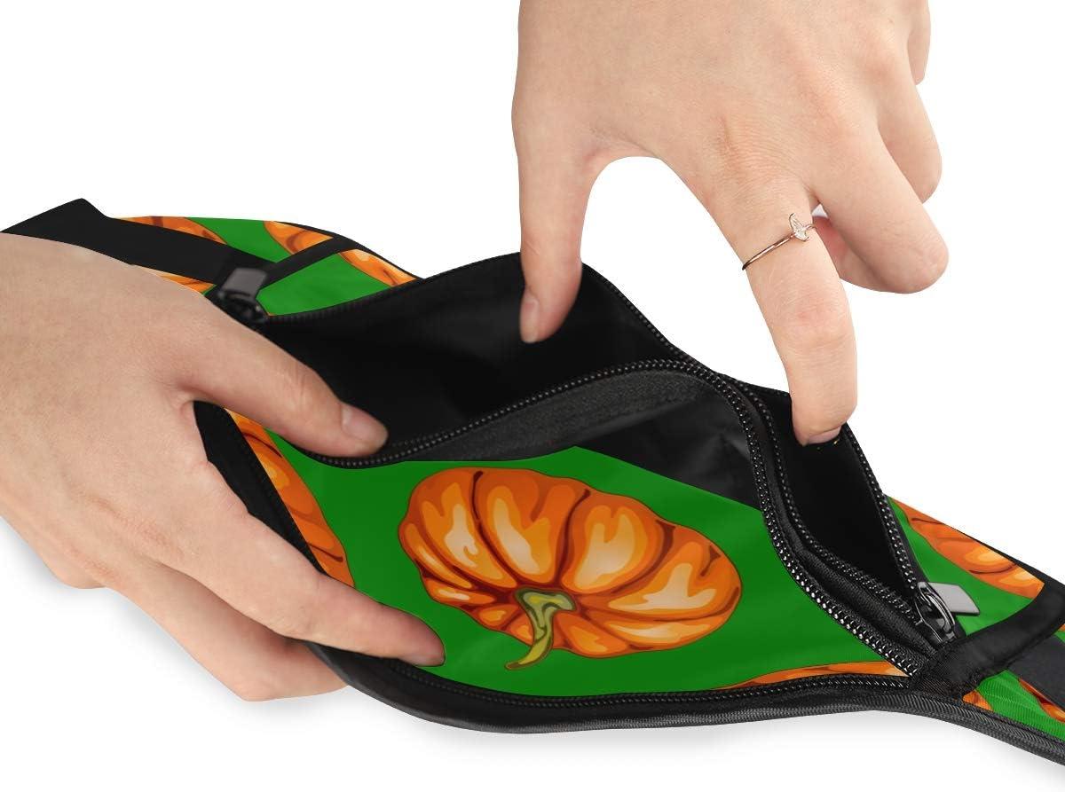 Travel Waist Pack,travel Pocket With Adjustable Belt Autumn Harvest Pumpkins On Running Lumbar Pack For Travel Outdoor Sports Walking