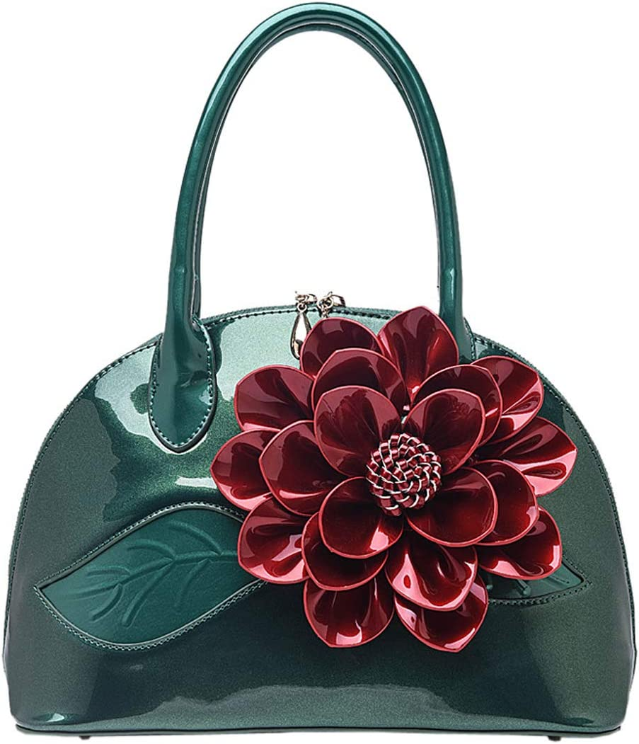 KeMeiChina Womens Handbags 3D Flower Satchel Bags Formal Party Wedding Tote Purses with Detachable Shoulder Strap