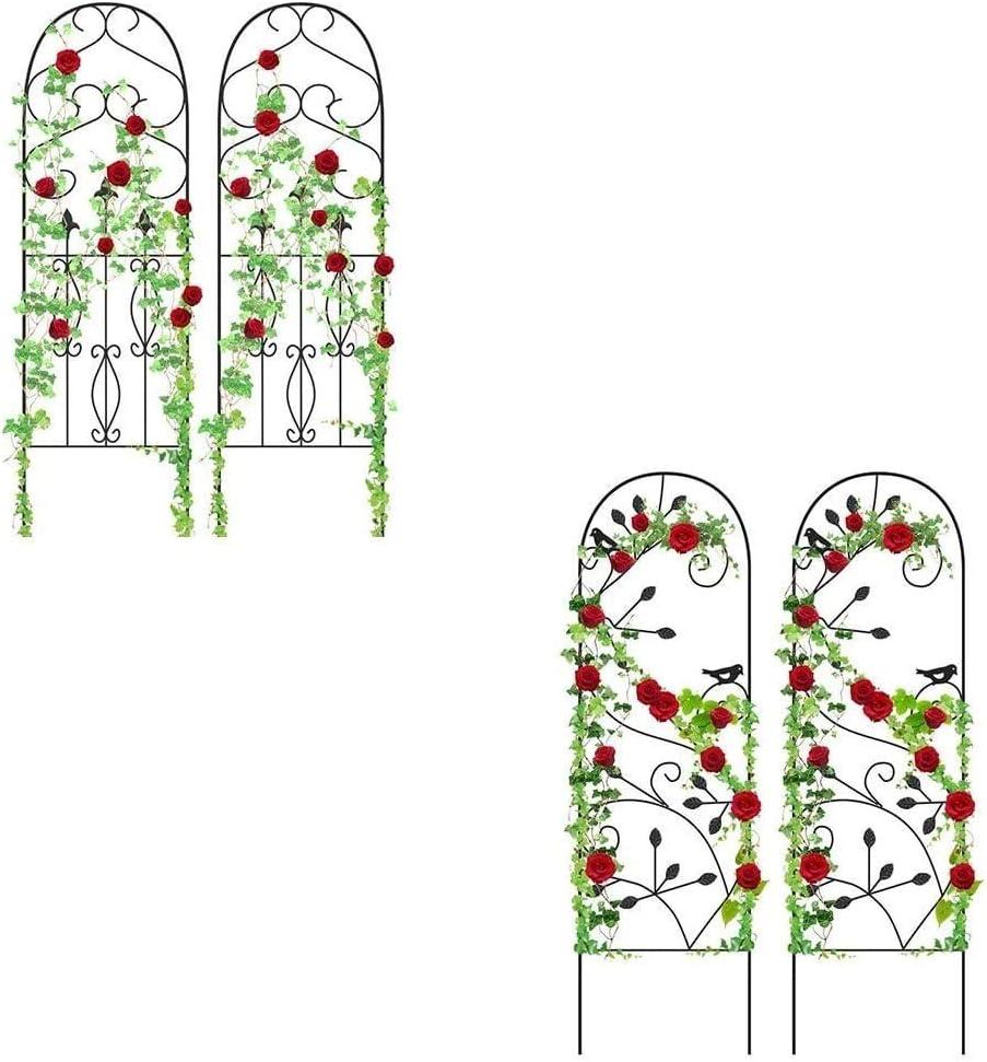 """Amagabeli Garden Trellis for Climbing Plants 60"""" x 18"""" Bundle 2 Pack Garden Trellis for Climbing Plants 46"""" x 15"""""""