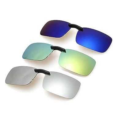 Gafas, Gafas de sol, Square Polarized Sunglasses Man Clip On ...