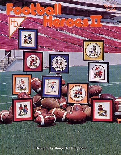Pegasus Originals Football Heroes 2 Counted Cross Stitch Leaflet