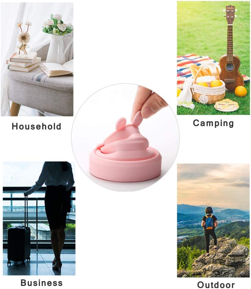 6.76oz Flysea Collapsible Travel Cup 2 Pack Silicone Folding Cup with Lids Expandable Portable Drinking Mug for Camping Outdoor Hiking Picnic BPA Free