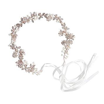Pearl Rhinestone Headband Head Piece Hair Band Accessories Party Wedding