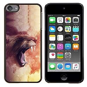 For Apple iPod Touch 6 6th Touch6 Case , Majestic Rugido del león- Diseño Patrón Teléfono Caso Cubierta Case Bumper Duro Protección Case Cover Funda