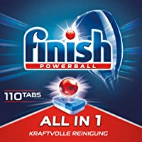 Finish Dishwasher Detergent Tablets, All-In-1 110 Tab