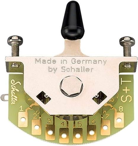 Switch para guitarra schaller vías Made in Germany megaswitch S 3 ...